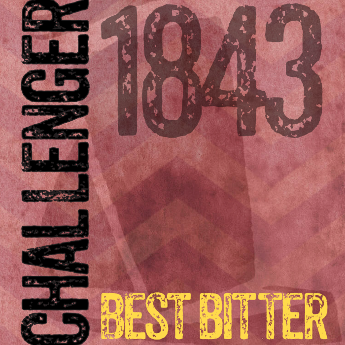 Challenger best bitter burgundy label