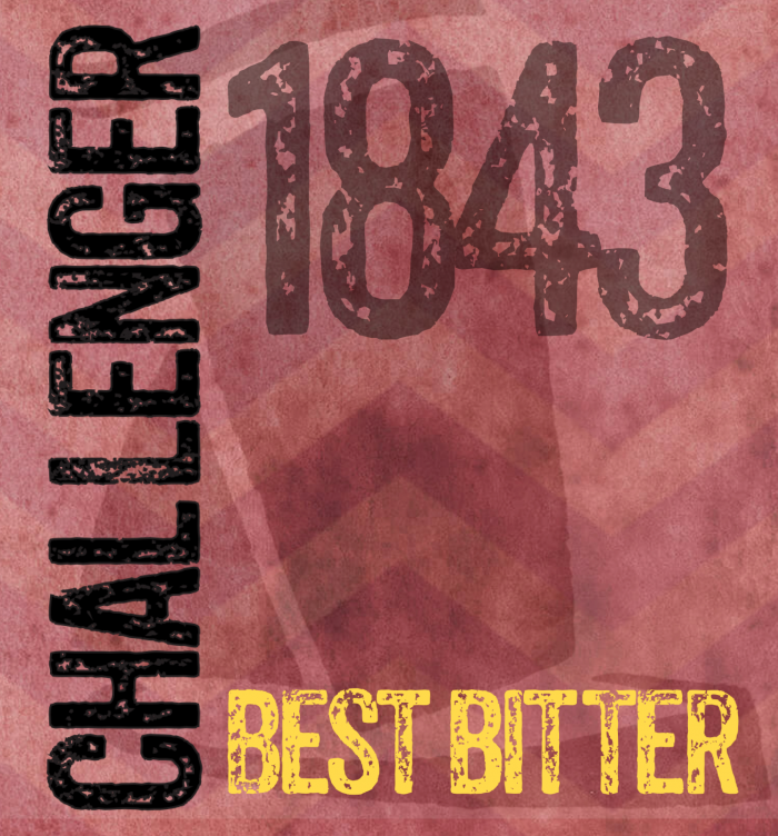 Challenger best bitter burgundy label
