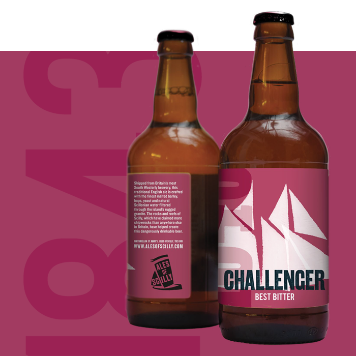 2 bottles of Challenger bitter