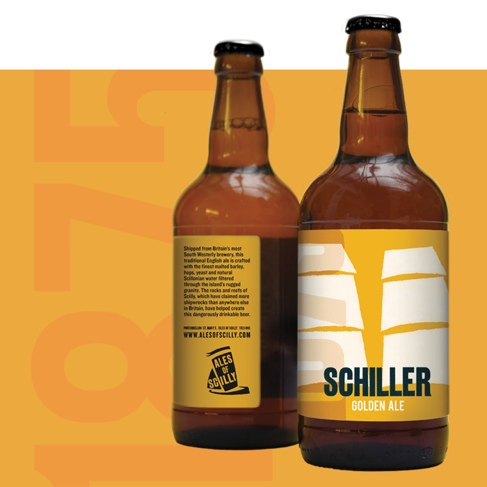 2 bottles of Schiller golden ale